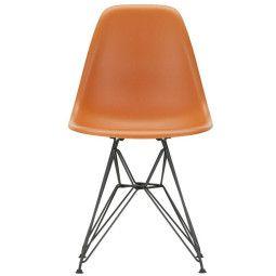 Vitra Eames DSR stoel met zwart gepoedercoat onderstel, Nieuwe kleuren