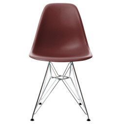 Vitra Eames DSR stoel met verchroomd onderstel