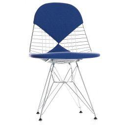 Vitra Eames Wire Chair DKR-2 stoel verchroomd onderstel