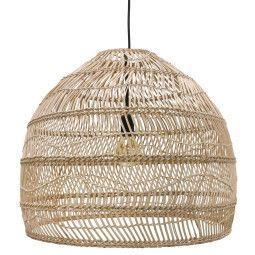 HKliving Wicker hanglamp medium