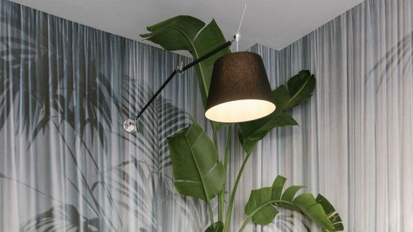 Artemide Tolomeo Mega parete wandlamp met dimmer aluminium