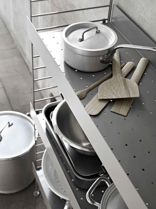 String Hoge keukenkast medium, grijs