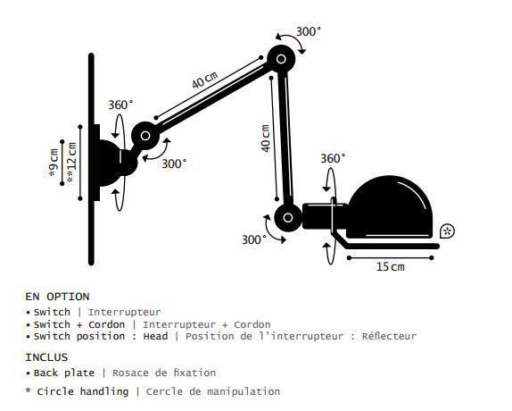 Jieldé Loft D4401S wandlamp
