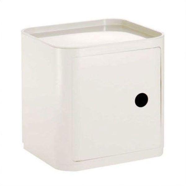 Kartell Componibili kast vierkant large, met deurtje