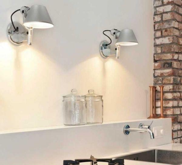 Artemide Tolomeo Faretto wandlamp halo met switch