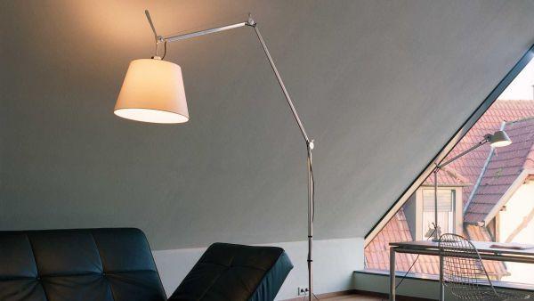 Artemide Tolomeo Mega Terra vloerlamp met aan-/uitschakelaar aluminium