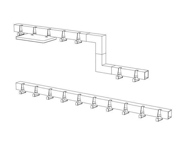 Vij5 Coatrack By The Meter kapstok met 10 haken